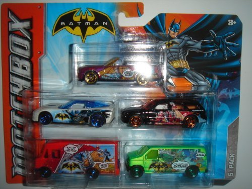Gt500 Ford Shelby 2007 (2012 Matchbox Batman 5 Pack 2007 Ford Shelby GT500 Convertible / Corvette ZR1 / Dodge Magnum R/T / Express Delivery / Chevy Van 2007)