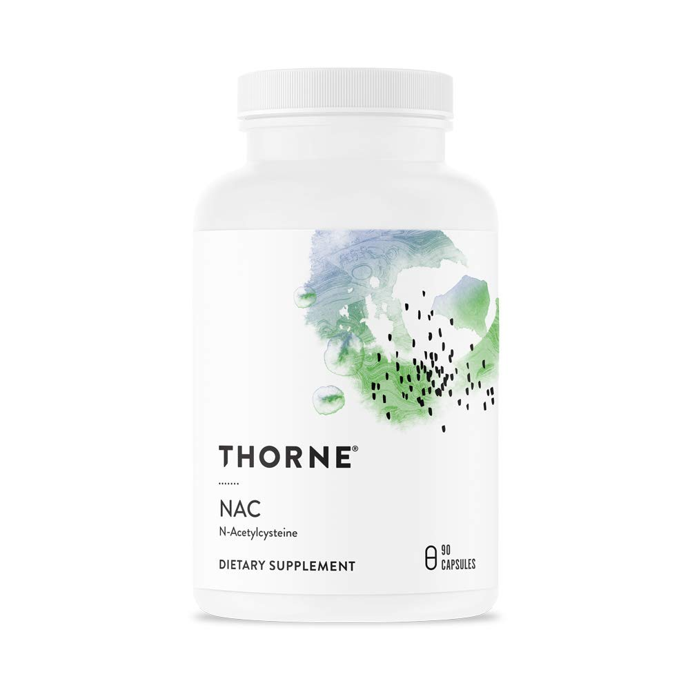 Thorne Research – NAC Formerly Cysteplus – N-Acetylcysteine for Liver Support, Detoxification, and Immune Function – 90 Capsules