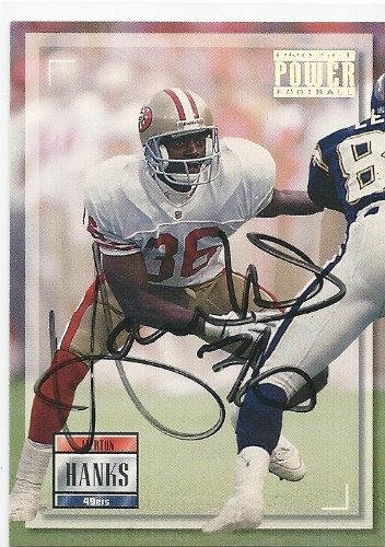 (1993, Merton Hanks, San Francisco 49ers, Signed, Autographed, Pro Set Football Card, Card # 136, a COA Will Be Included)