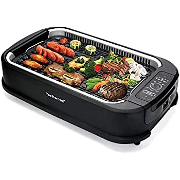 Amazon Com Power Smokeless Grill With Tempered Glass Lid