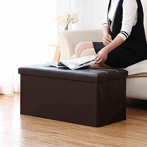 DIDIDD Sofa stool- long double stool 110 liters storage stool toy storage stool change shoe stool storage small sofa stool (2 colors optional) (76 37 37cm) --storage stool,A - Series Single Face Wooden Bookcase