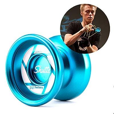 YoYoFactory Shutter Unresponsive Professional Metal Trick YoYo - Color : Aqua: Sports & Outdoors