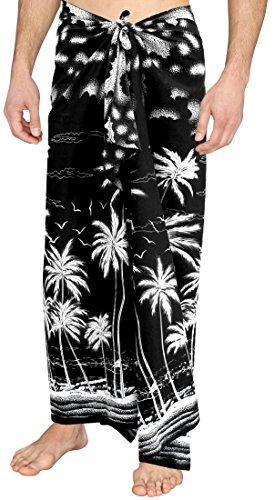 LA LEELA Soft Light Printed Swimwear Casual Pareo Mens Wrap 72