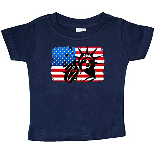 Liberty State Tee - inktastic - Liberty Flag Baby T-Shirt 12 Months Navy 309d7