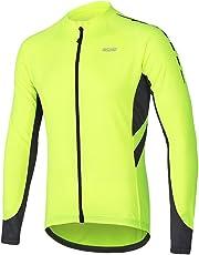 d030972737901 ARSUXEO Men s Full Zipper Long Sleeves Cycling Jersey Bicycle MTB Bike Shirt  6030