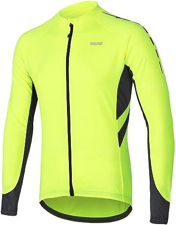 d4d80276fe4 ARSUXEO Men s Full Zipper Long Sleeves Cycling Jersey Bicycle MTB Bike Shirt  6030