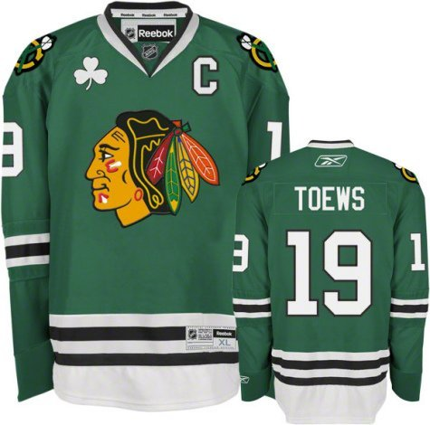Reebok Chicago Blackhawks Jonathan Toews Youth Premier Jersey Large/X-tra Large