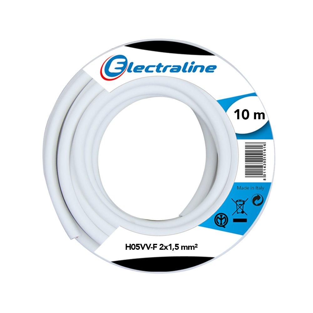 Electraline 60107035J Couronne de c/âble H05VV-F pour rallonge 10 m section 2x1,5 mm/²