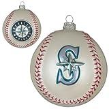 Seattle Mariners Glass Baseball Ornament