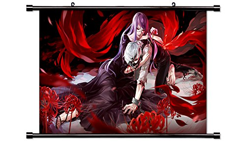 Tokyo Ghoul Anime Fabric Wall Scroll Poster  Inches