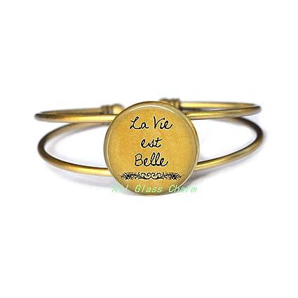 Amazon Com Allglasscharm La Vie Est Belle Life Is