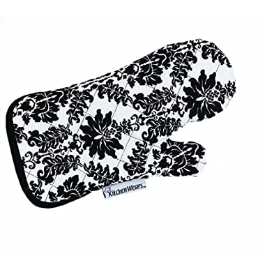 Ritz Kitchen Wears Print Thumb Mitt, Vintage Damask Black