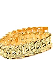 happy2girls Wrist Chain 24k Gold Plated Noble Men's Women's Bracelets New Design Bangle