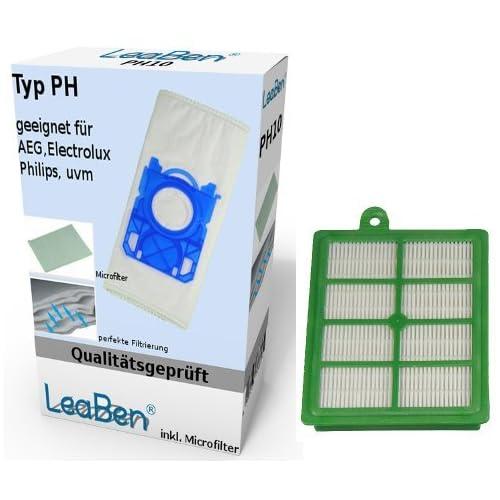#ph10_efh12 - Sacs aspirateur - Lot de 10 - + 1 filtre Hepa pour aspirateur Philips Performer FC 9170/1 FC9172/3 FC9175/3
