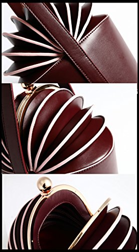 MYLL Handbag Ananas Personality Borsa Forma Di Di Brown Women's Fashion Purple A Forma High Leather A Quality rXrqv