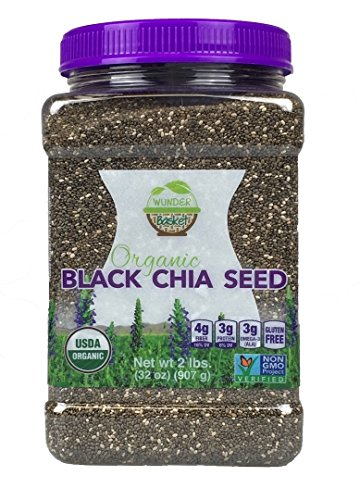 Price comparison product image WunderBasket Organic Black Chia Seeds(Pack of 1)
