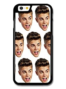 AMAF ? Accessories Justin Bieber Head Pattern case for iPhone 6