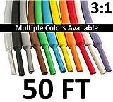 Electriduct 1.5'' Heat Shrink Tubing 3:1 Ratio - 50FT (White)