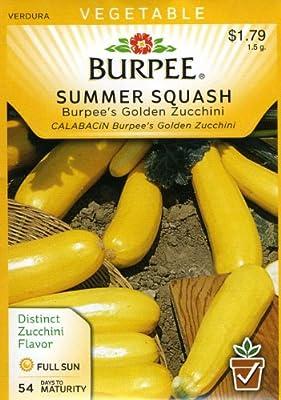 Burpee 64675 Squash, Summer Burpee's Golden Zucchini Seed Packet
