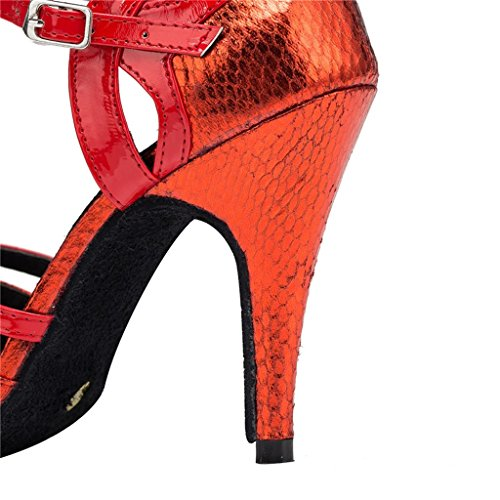 High Latin 7 Ballroom 5B Sexy Stiletto Shoes Heels US Monie Modern Salsa Dance Women's Red 1fzXqX7F
