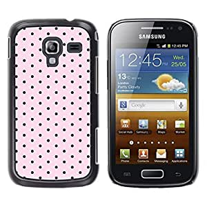 TaiTech / Hard Protective Case Cover - Pattern Pink Black Band Aid - Samsung Galaxy Ace 2 I8160 Ace II X S7560M