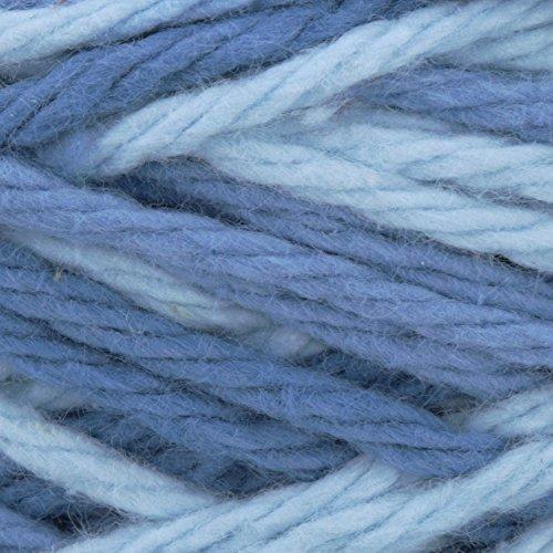 Lily Sugar'n Cream Cotton Cone Yarn, 14 oz, Faded Denim Ombre, 1 Cone