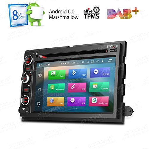 XTRONS 7 Inch Android 6.0 Octa-Core 2G RAM 32GB ROM Capacitive Touch Screen Car Stereo Radio DVD Player GPS CANbus Screen Mirroring Function OBD2 Tire Pressure Monitoring for FORD F-105 Mustang by XTRONS
