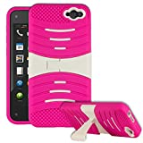 HHI Duo Sonar Armor Case with Stand for Amazon Fire Phone - White/Pink (Package include a HandHelditems Sketch Stylus Pen)