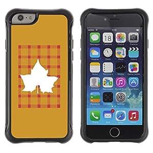 LASTONE PHONE CASE / Suave Silicona Caso Carcasa de Caucho Funda para Apple Iphone 6 / Maple Golden Brown Plaid