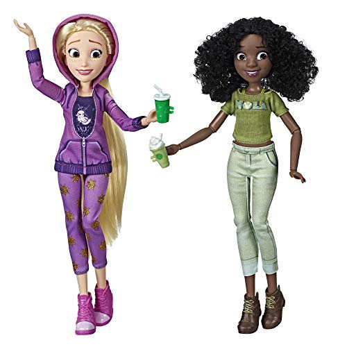 Disney Princess Ralph Breaks The Internet Movie Dolls, Rapunzel & Tiana Dolls with Comfy Clothes & Accessories ()
