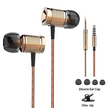 Honway Auriculares de Diadema, Dentro de oído, Magnesio Unibody, Aislamiento de Ruido,