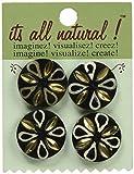 Vision Trims Handmade Bone Buttons 4/Pkg-Circles Petal Pattern