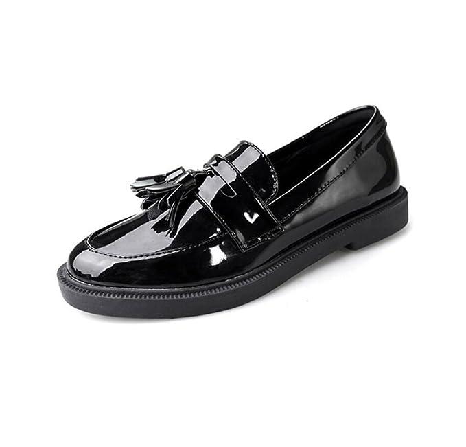 DANDANJIE Zapatos De Las Señoras Oxford Zapatos De Otoño Tacos Vintage Mocasines Estudiantes: Amazon.es: Ropa y accesorios