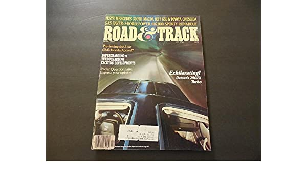Road Track Apr 1981 Datsun 280ZX Turbo; Mercedes 300TD; RX-7; Radar at Amazons Entertainment Collectibles Store