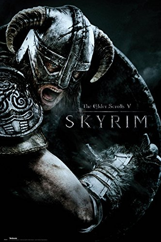 The Elder Scrolls V: Skyrim - Gaming Poster / Print (Attack) (Size: 24' x 36')