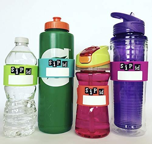 H2O ID BANDS: Introduces SIP ID 12 BAND MULTICOLOR PARTY PACK - REUSABLE ID BANDS- PERSONALIZE & LABEL YOUR DRINK; WATER BOTTLES, REUSABLE BOTTLES & CUPS, SIPPY CUPS, SPORTS DRINKS, ()