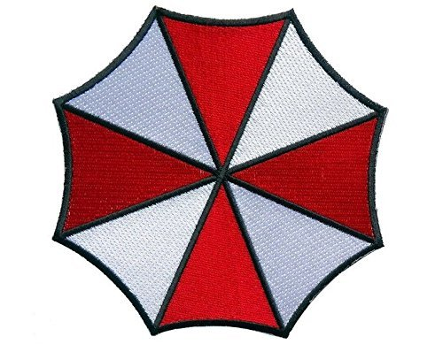 Resident Evil Small Umbrella Corporation Logo Shoulder Patch, NEW 3
