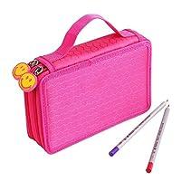 O, como Oxford 36 unidades de colores Estuche de lápices Bolso de la bolsa Estuche fijo Estuche de arte Sketch Lápiz Bolsa de almacenamiento de lápices (rosa roja)