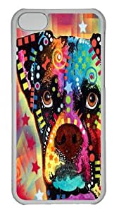 iPhone 5C Case and Cover -Boxer CubIsm PC Case Cover for iPhone 5C and iPhone 5C Transparent