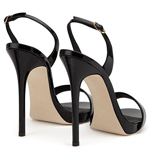 uBeauty Tacco Nero Cintura Sexy con della Alto Caviglia Sandali Sandali della Sandali rwpqw