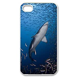 Hard Shell Case Of Deep Sea Shark Customized Bumper Plastic case For Iphone 4/4s