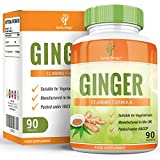 Ginger Root Extract 12000mg - High Strength Supplement - 20:1 Extract - For Men and Women - Suitable for Vegetarians - 90 Tablets (3 Month Supply) by Earths Design