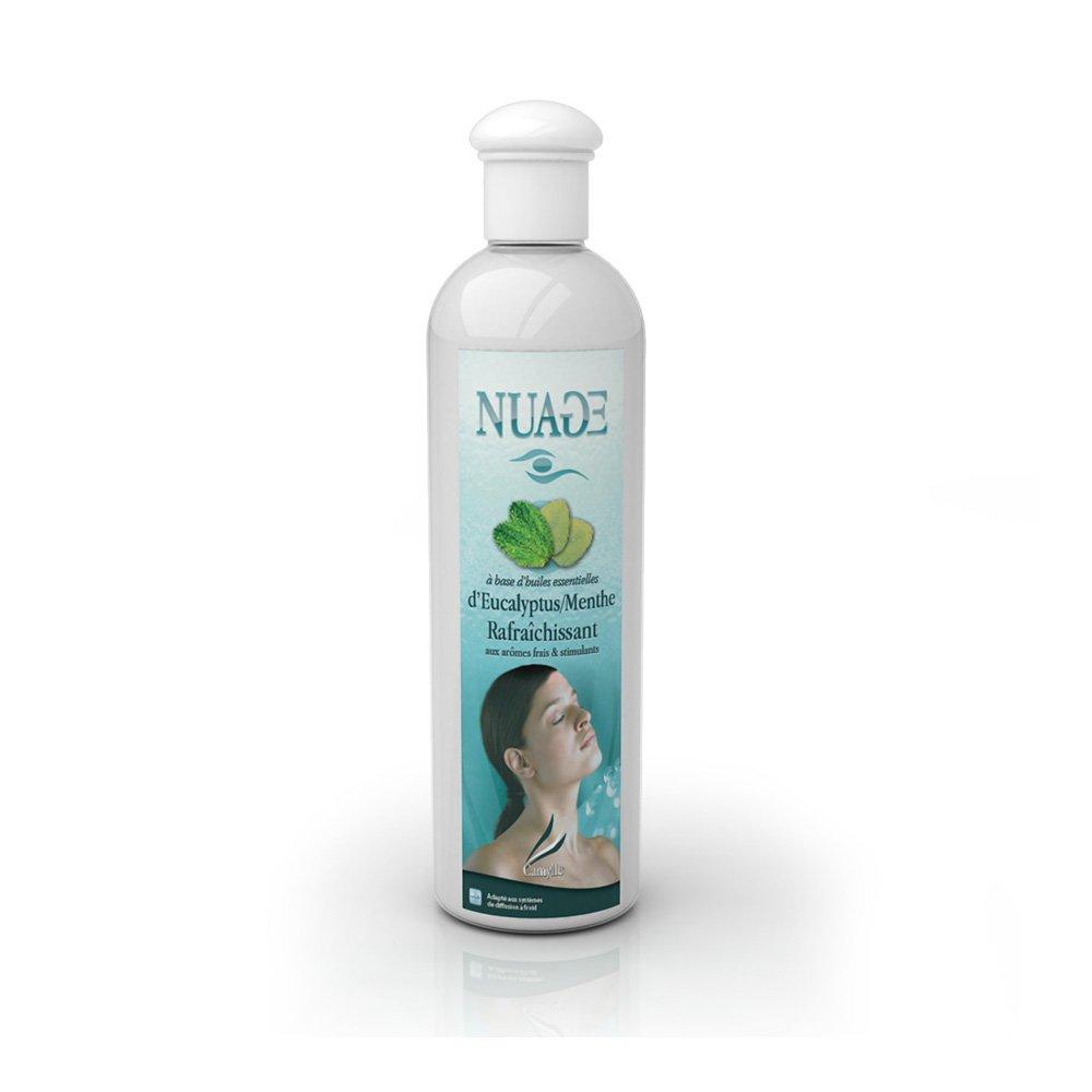 Camylle - Nuage - Emultion d'huiles essentielles pour diffuseur à ultrason - Eucalyptus/Menthe - Rafraîchissant - 250ml