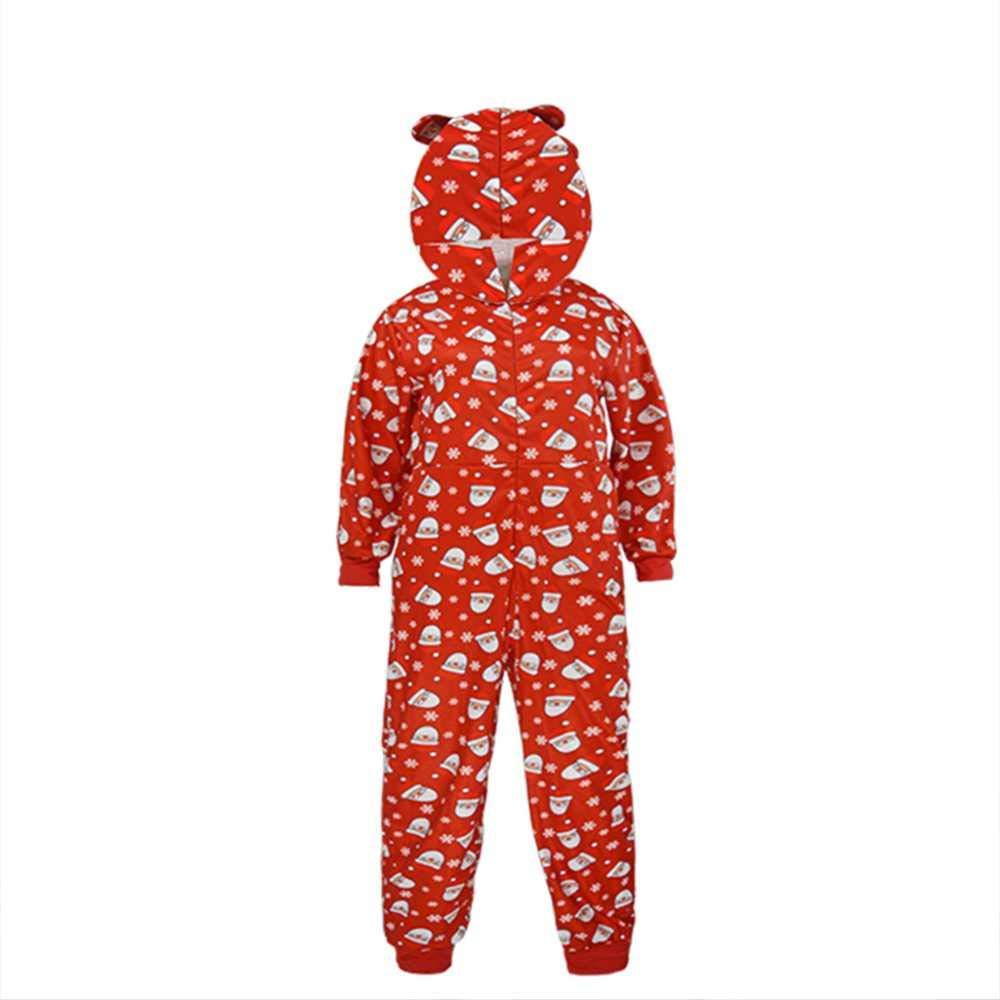 Weihnachten Familie Weihnachten Pyjamas Pjs Set Mit Kapuze Rentier Print Jumpsuit Fashion Casual Outfit Nachtw/äsche Geschenke