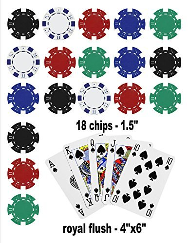 Poker Edible Cake Topper Royal Flush Cake Topper Casino Chips