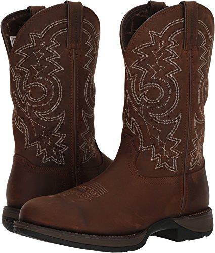 Durango Mens Rebel Waterproof Western Boot Round Toe Brown 12 D