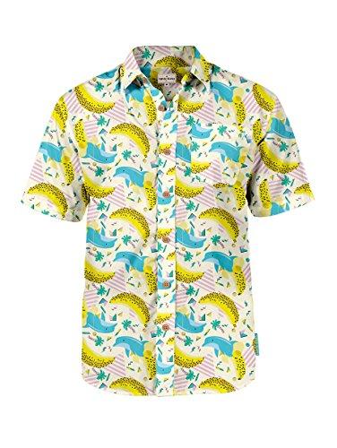 c9df1cabaca4 Men's Tropical Aloha Hawaiian Shirts - Summer Light Weight Button Down  Shirts