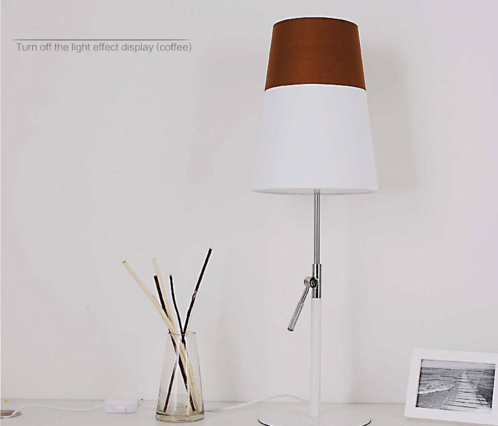 GL&G Modern Adjustable High Protection Eye Lamp Bedroom Study Reading Lighting Creative Fashion Bedside Lamp (Push Button Switch),Coffee,2360CM by GAOLIGUO (Image #4)
