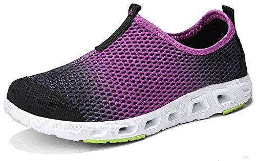 Go Outdoor Dry Water Purple Shoe 3 Walking Lightweight Tour Shoe on Slip Women's Leisure Quick 1zRx1r