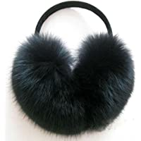 AKOAK Imitation Rabbit Fur Earmuffs Fashion Warm Woman Warm Ear Cover,Black